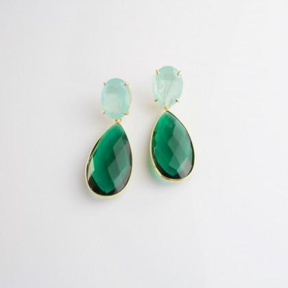 Pendientes Green Emerald