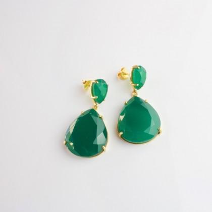 Pendientes Green Onix