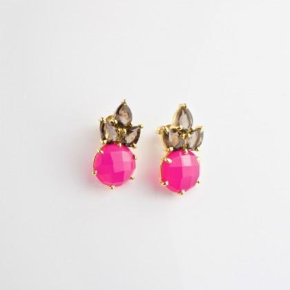 Pendientes Pink Lotus